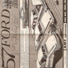 Inst Sheet 1957 Ford Fairlane 500