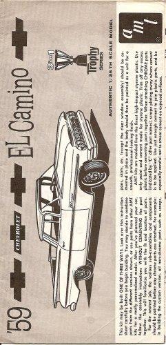 Inst Sheet 1959 Chev El Camino