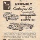 Inst Sheet 1959 Corvette 3 in 1