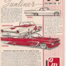 Inst Sheet 1961 Ford Sunliner 3 in 1