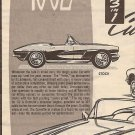 Inst Sheet 1962 Corvette 3 in 1