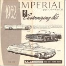 Inst Sheet 1962 Imperial Conv 3 in 1
