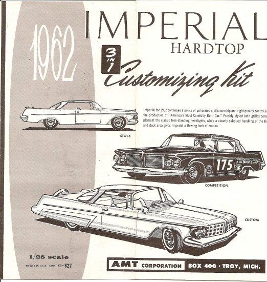Inst Sheet 1962 Imperial Hardtop 3 in 1