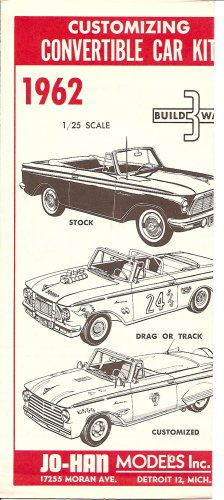 Inst Sheet 1962 Rambler American Conv