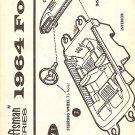 Inst Sheet 1964 Ford Craftsman Series