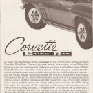 Inst Sheet 1965 Corvette Sting Ray