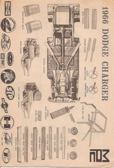 Inst Sheet 1966 Dodge Charger