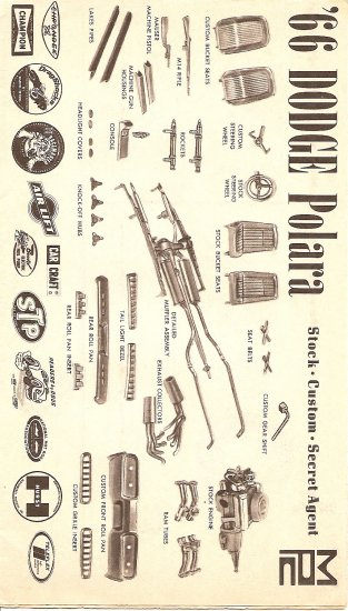 Inst Sheet 1966 Dodge Polara