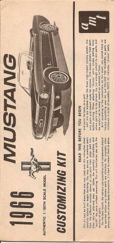 Inst Sheet 1966 Mustang Conv