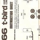 Inst Sheet 1966 T Bird