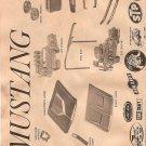 Inst Sheet 1967 Mustang