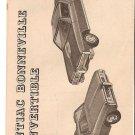 Inst Sheet 1968 Pontiac Bonneville Conv