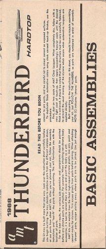 Inst Sheet 1968 Thunderbird