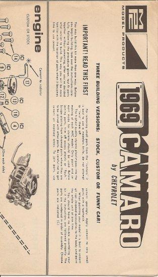 Inst Sheet 1969 Camaro
