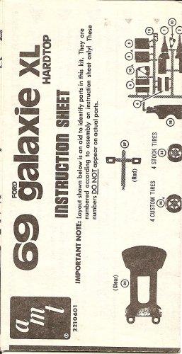 Inst Sheet 1969 Ford Galaxie XL