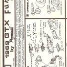 Inst Sheet 1969 Gtx Funny Car