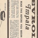 Inst Sheet 1970 Chev Impala