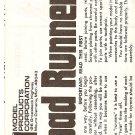 Inst Sheet 1971 Road Runner