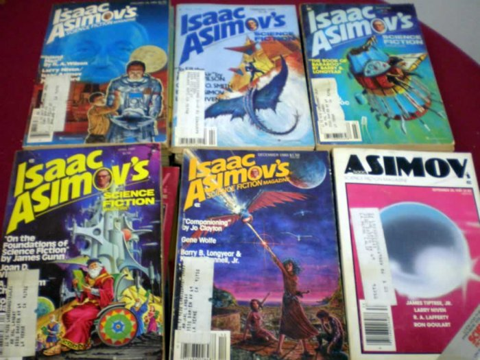 VINTAGE ISAAC ASIMOVS PAPERBACK LOT OF 20 # 20, 2.0 GD