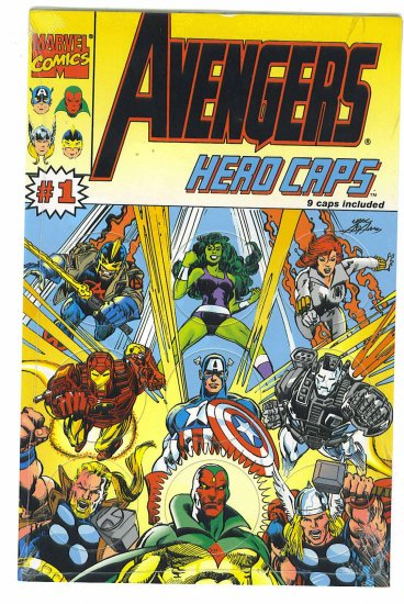 Avengers Hero Caps # 1, 9.4 NM