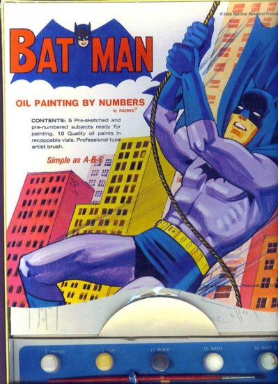 Batman Oil Painting By Numbers # 2196, 9.2 NM -