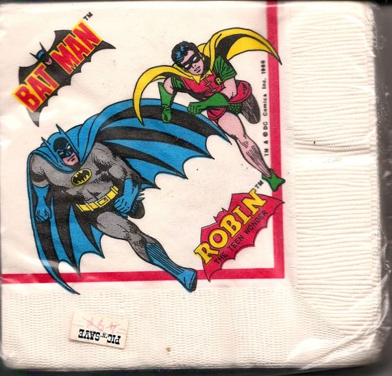 Batman Print Napkins # 1, 9.4 NM