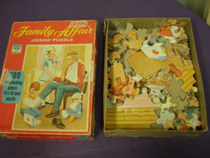 Family Affair Jigsaw Puzzle # 4609, 1.5 FR/GD