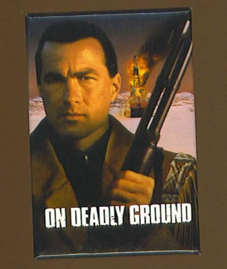 On Deadly Ground Button # 1, 8.0 VF