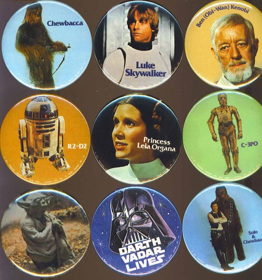 Star Wars Princess Leia Organa Button # 1, 9.4 NM