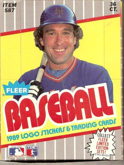 1989 FLEER BASEBALL TRADING CARD BOX # 1, 9.2 NM -