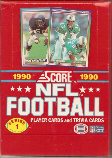 1990 SCORE NFL FOOTBALL BOX # 1, 8.5 VF +
