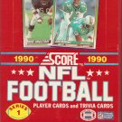 1990 SCORE NFL FOOTBALL BOX # 1, 8.5 VF +
