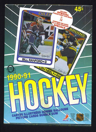 1990-91 O-Pee-Chee Hockey Unopened Box # 199091, 9.4 NM
