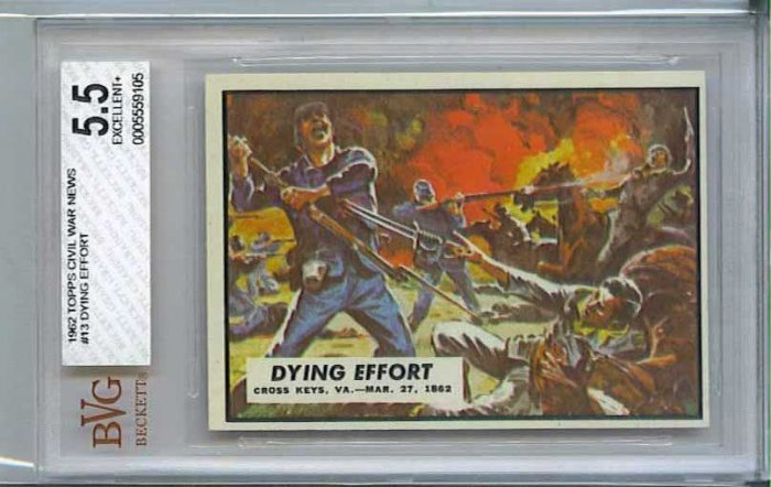 BVG GRADED 1962 CIVIL WAR NEWS # 13, 5.5 FN -