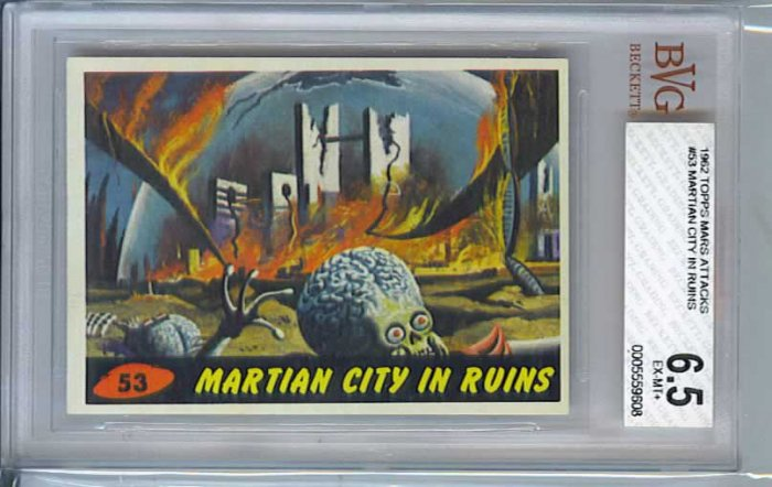 BVG GRADED 1962 MARS ATTACKS # 53, 6.5 FN +
