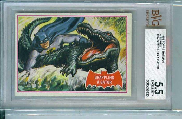 BVG GRADED 1966 BATMAN CARD # 2, 5.5 FN -