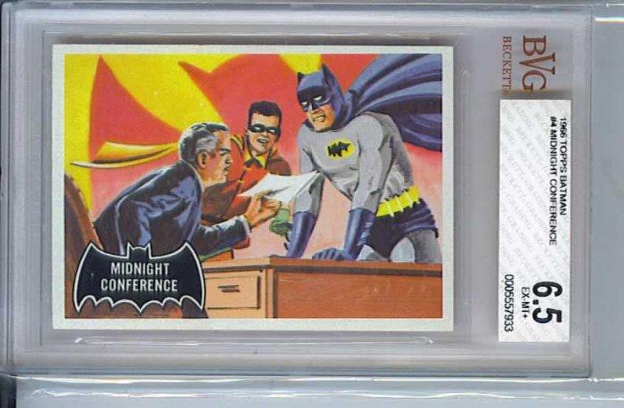 BVG GRADED 1966 BATMAN CARD # 4, 6.5 FN +