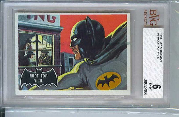 BVG GRADED 1966 BATMAN CARD # 5, 6.0 FN