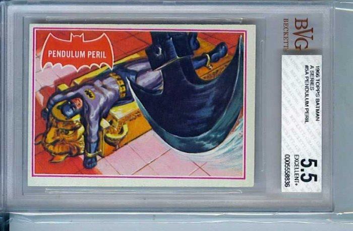 BVG GRADED 1966 BATMAN CARD # 5, 5.5 FN -