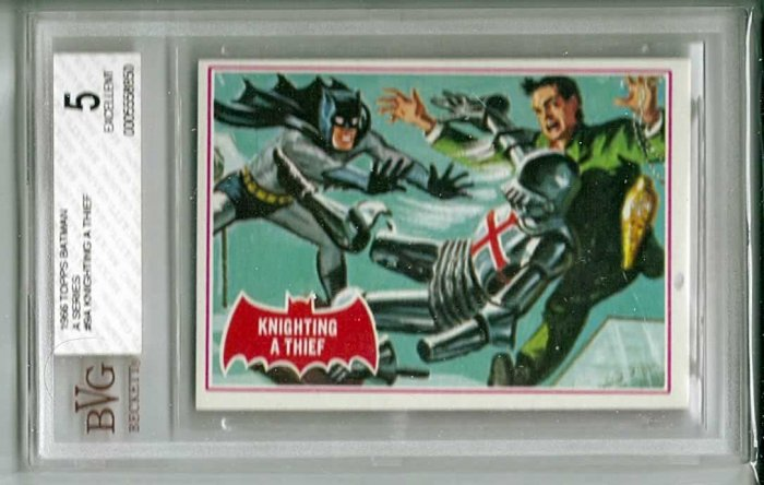 BVG GRADED 1966 BATMAN CARD # 9, 5.0 VG/FN