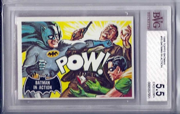 BVG GRADED 1966 BATMAN CARD # 15, 5.5 FN -