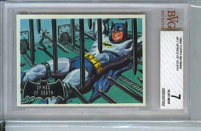 BVG GRADED 1966 BATMAN CARD # 17, 7.0 FN/VF