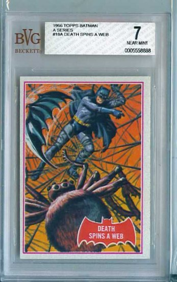 BVG GRADED 1966 BATMAN CARD # 18, 7.0 FN/VF
