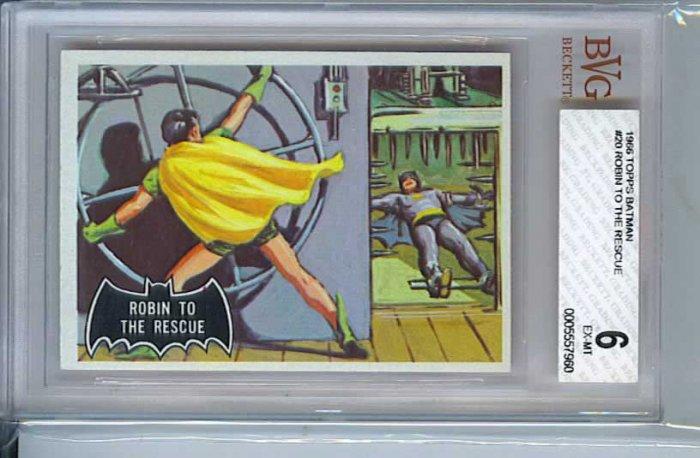 BVG GRADED 1966 BATMAN CARD # 20, 6.0 FN