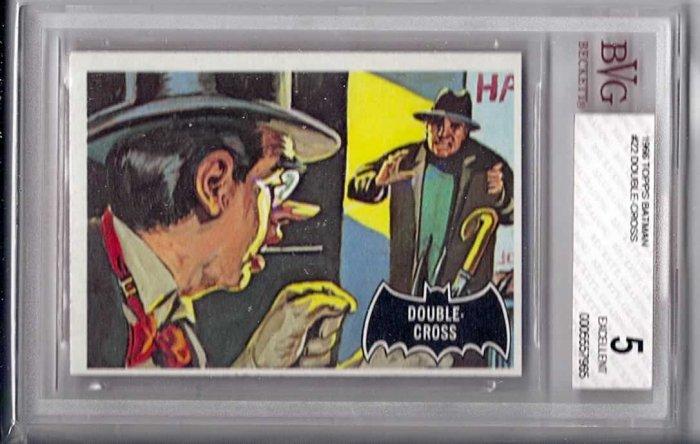 BVG GRADED 1966 BATMAN CARD # 22, 5.0 VG/FN