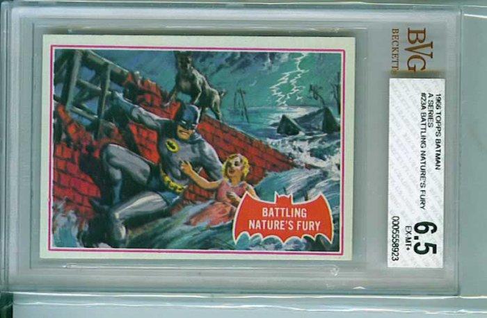 BVG GRADED 1966 BATMAN CARD # 23, 6.5 FN +