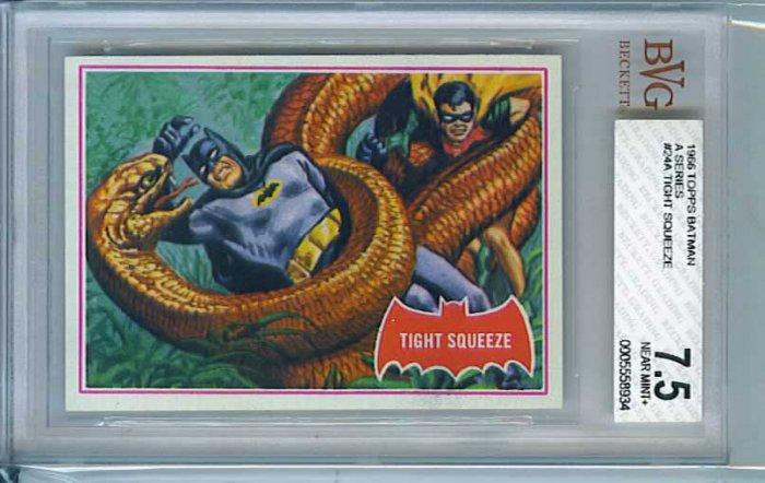 BVG GRADED 1966 BATMAN CARD # 24, 7.5 VF -