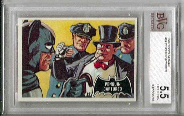 BVG GRADED 1966 BATMAN CARD # 24, 5.5 FN -