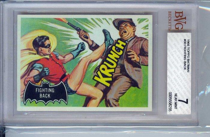 BVG GRADED 1966 BATMAN CARD # 30, 7.0 FN/VF