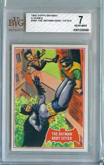 BVG GRADED 1966 BATMAN CARD # 34, 7.0 FN/VF